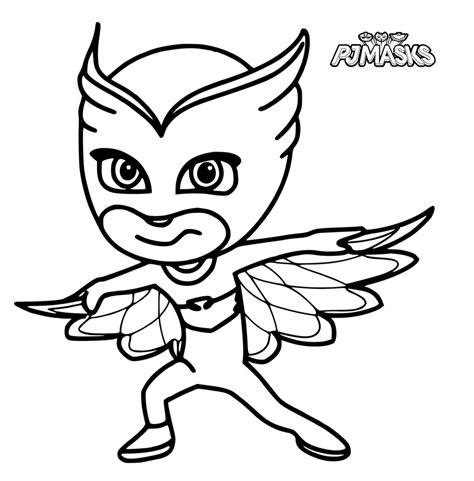 pj masks az coloring pages