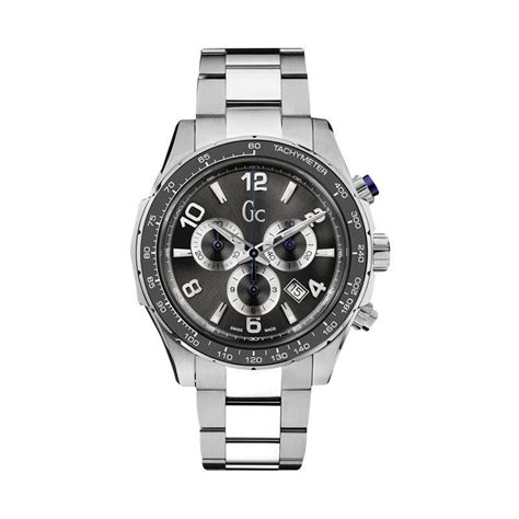 Jam Gc Chronograph jual guess collection technosport chronograph stainless