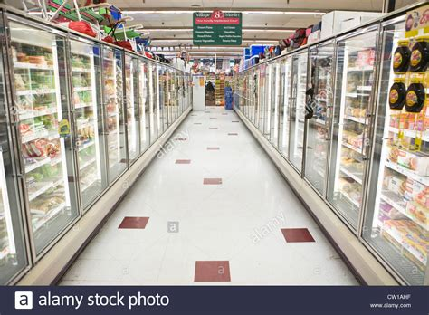 sections of a grocery store frozen food section of grocery store stock photo royalty
