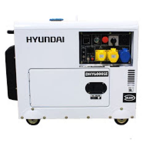 Small Home Generators Uk Hyundai Dhy6000se 5 2kw Silenced Diesel Generator