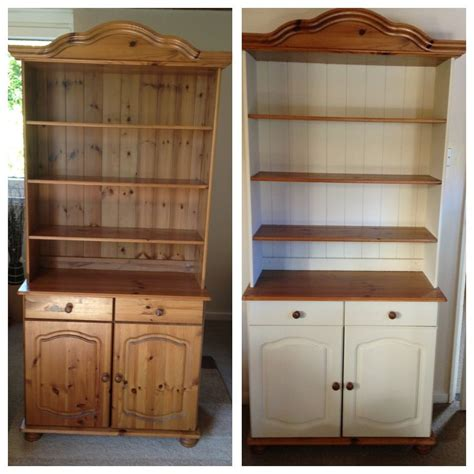 my dresser before after painted using sloan