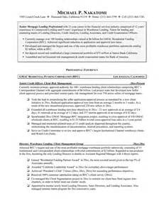 Mortgage Administrator Sle Resume by Leading Professional Loan Officer Cover Letter Exles