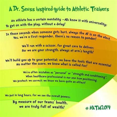 quotes about athletic trainers national athletic training month 2014 natm2014 dr