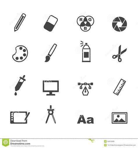 graphic design icons stock vector image of icon design graphic design icons stock vector image 54019463
