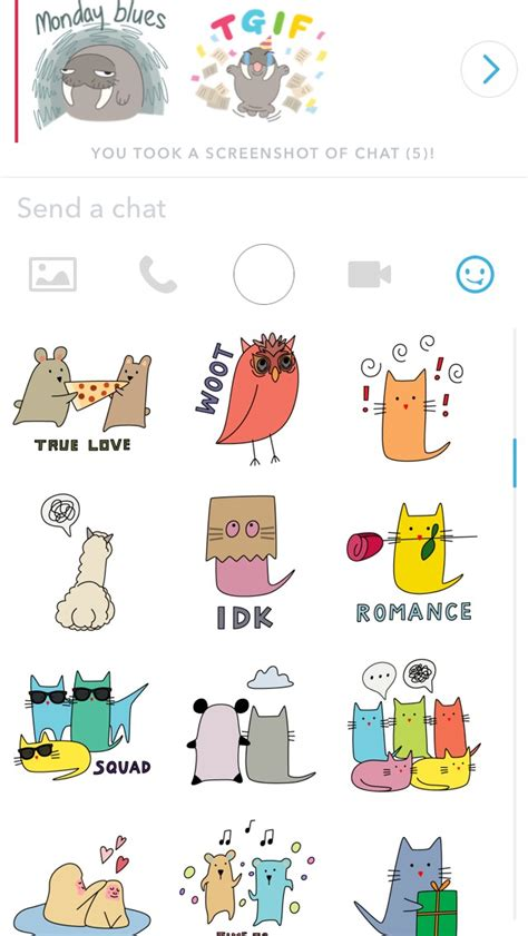 Moving Stickers Snapchat