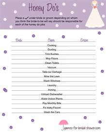 free printable honey do s game for bridal shower