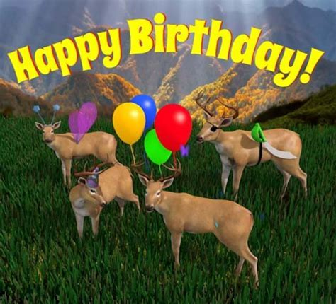 Happy Birthday Deer Herd. Free Happy Birthday eCards