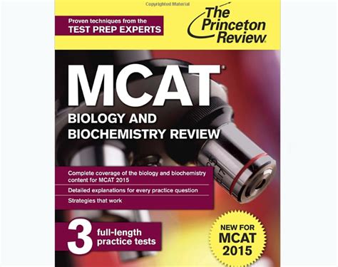 Mcat Biology Section by Princeton Review Mcat Biology And Biochemistry Review
