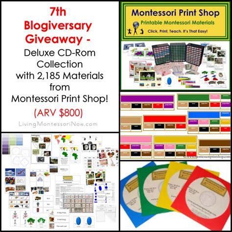 montessori printable shop 7th blogiversary giveaway montessori print shop deluxe