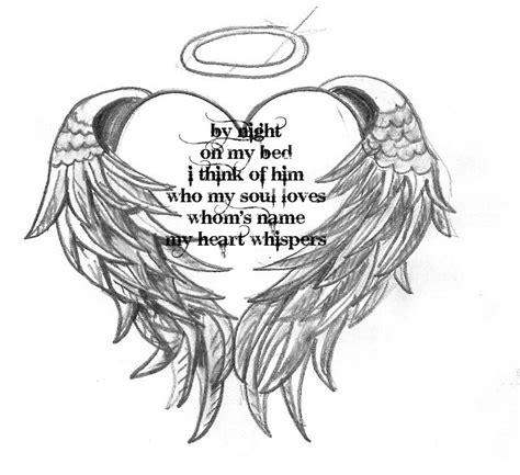 Free Angel wings heart phone wallpaper by katrina334