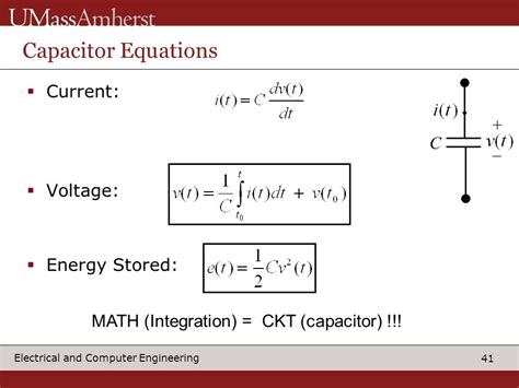 capacitor stored energy equation what electrical computer engineering can do for you ppt