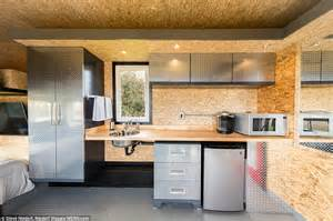 Cabin Kitchen Cabinets man cave on wheels with four beds flat screen tvs goes