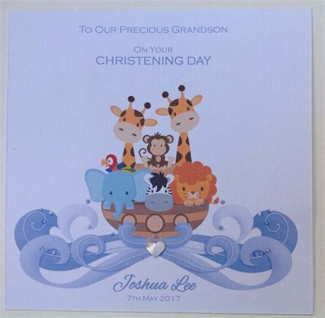 pics of cards personalised handmade christening baptism card
