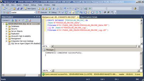 cara membuat query pada sql server cara membuat database di microsoft sql server seputar