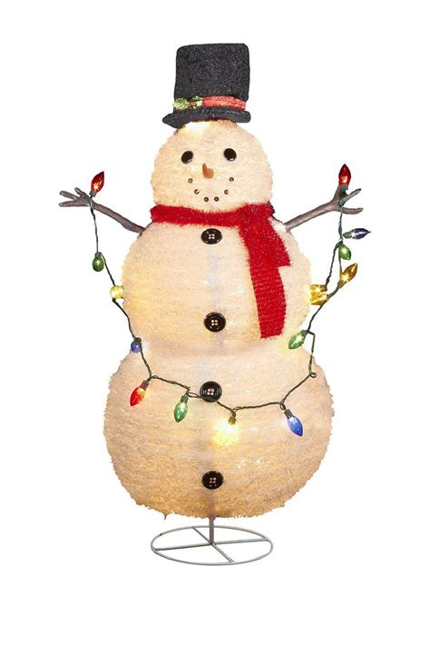 kurt adler christmas big bird yard art 48 quot lighted collapsible snowman on hautelook all i want for products