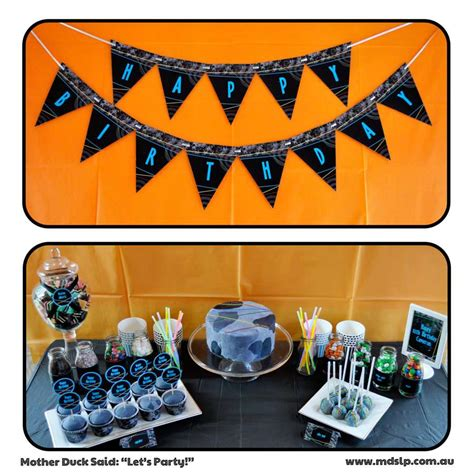 Laser Decorations - laser tag birthday ideas photo 10 of 11 catch my