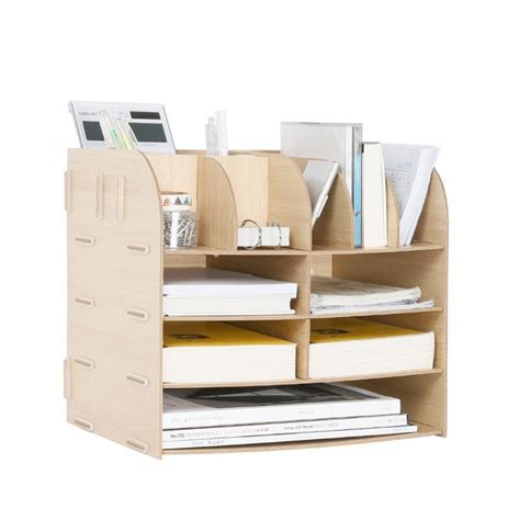 School Desk Organizer Diy Wood Made Desk Organizer Office School Supplies Desk Accessories Organizer 13 Blocks