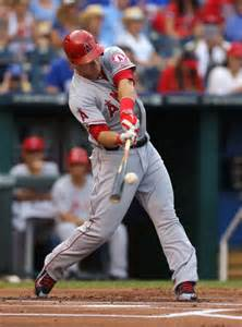 mike trout baseball swing mike trout hit a baseball nearly 500 feet the big lead