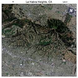 aerial photography map of la habra heights ca california