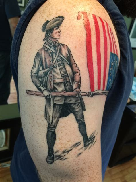 revolutionary war tattoo cobra custom