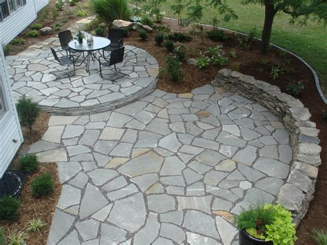 backyard flagstone flagstone patio for a natural look decorifusta