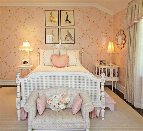 chambre ado fille decoration style shabby chic ideeco