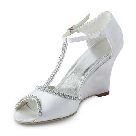 White Wedge Bridal Shoes by White Wedge T Wedding Shoes Offering Comfort And