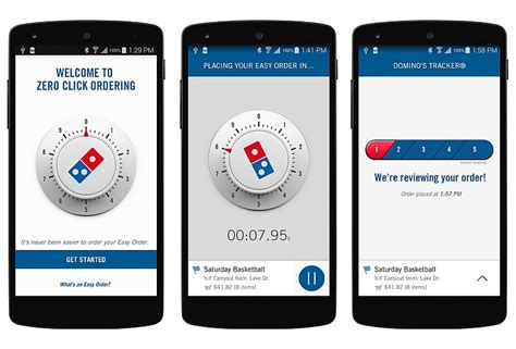 domino pizza app domino s new app lets you order a pizza with zero clicks