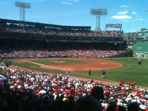 section ten fenway park section grandstand 10 row 2 seat 4 boston