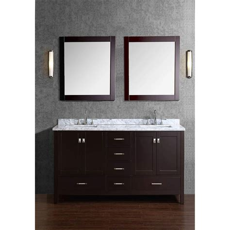 solid wood vanities for bathrooms vincent 60 quot solid wood double bathroom vanity bathroom