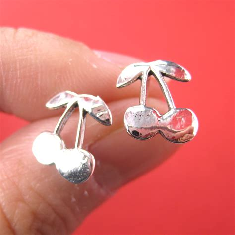 Cherry Studs dotoly plus cherry shaped fruit stud earrings in