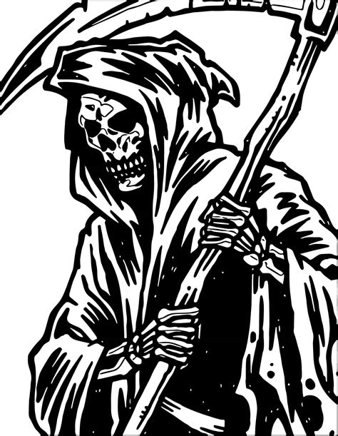 Any Grim Reaper Coloring Page Wecoloringpage Grim Reaper Coloring Pages