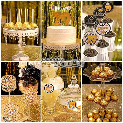 gold event themes gold black white theme birthday party surprise candy