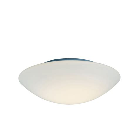 Flush Fitting Ceiling Lights Uk Cf10bl Disc Flush Fitting In Opal Glass With Blue Effect