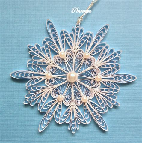 snowflake patterns quilling quilled snowflake by pinterzsu on deviantart