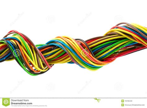 bundle of color cables stock photos image 19735443