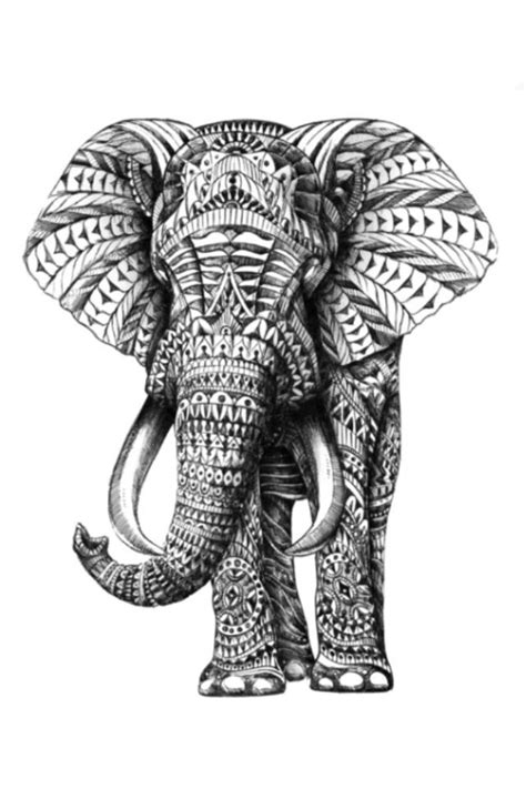 indian tribal elephant tattoos pinterest