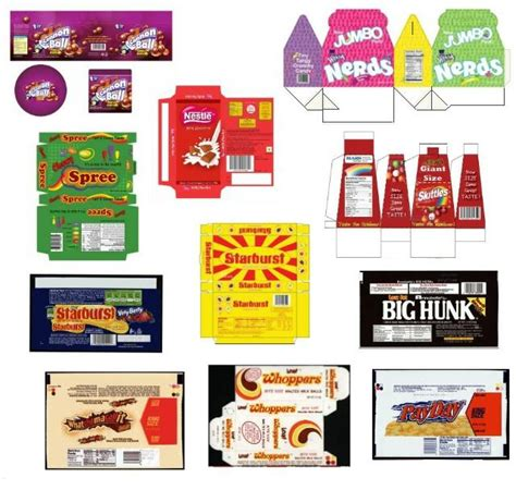 dollhouse v zone miniature printables assorted candies v crafts