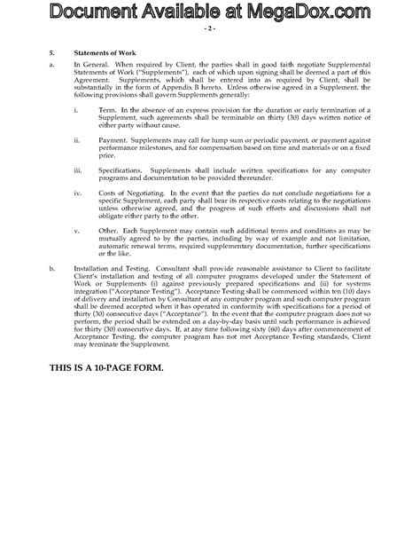 software consulting agreement template software consulting agreement forms and business