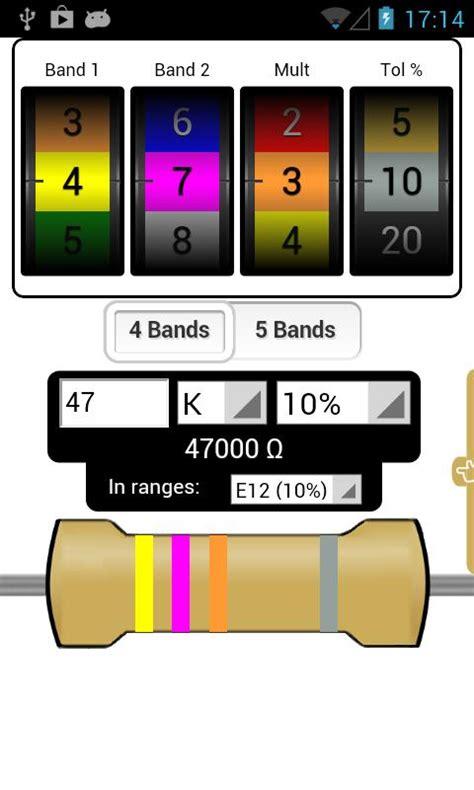 resistor color code calculator 1 0 0 0 portable evolution not revolution the audio standard