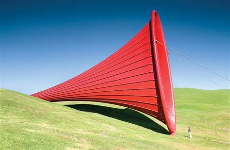 Home Design Alternatives Anish Kapoor Sculpture Blends Fabric And Steel In New