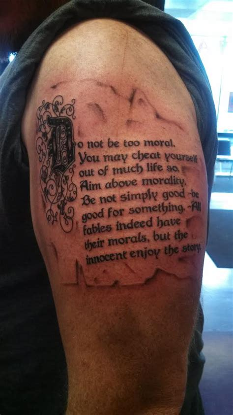 do not be too moral contrariwise literary tattoos
