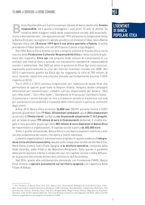 Filiali Banca Etica by 2014 Sroi Banca Etica