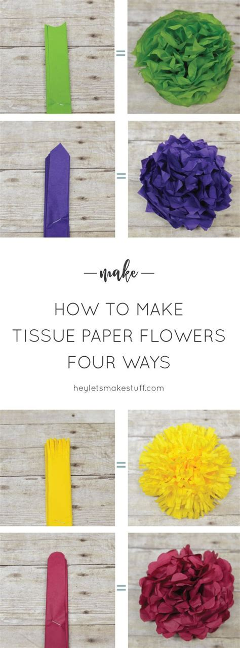 How to Make Tissue Paper Flowers Four Ways   Blissful