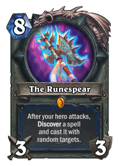 Hearthstone Legendary Card Template by Hearthstone Kobolds Catacombs Analyzing The Runespear