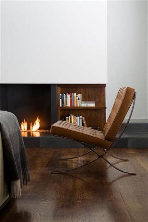 Barcelona Chair Interior by Barcelona Chair Fireplace Home Interior Decor Design