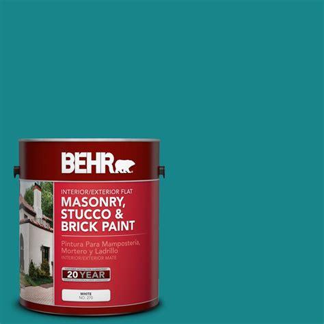 behr 1 gal m460 6 thai teal flat interior exterior masonry stucco and brick paint 27201 the
