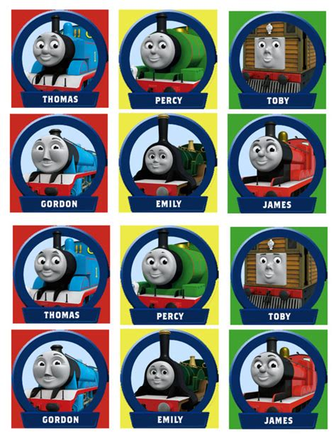 printable train stickers thomas the train and friends cupcake toppers instant