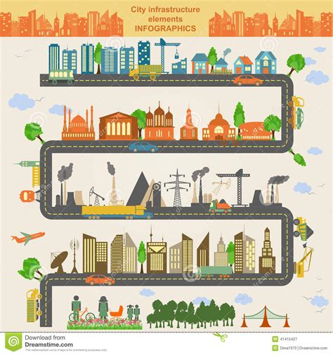 creative road design elements vector set of modern city elements for creating your own maps of