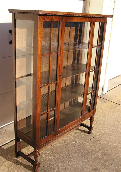 china cabinet for sale an arts crafts era mission oak china cabinet c 1900 for
